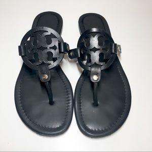 Tory Burch Miller Sandals 8 Matte Black